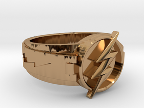 V3 Flash ring Size 9.5 19.41mm in Polished Brass