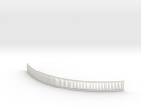 DeAgo Millennium Falcon Engine Grill fins curve in White Natural Versatile Plastic