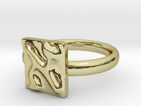01 Alef Ring in 18k Gold: 5 / 49