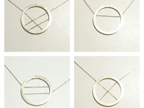 WIYW Circle Pendant in Natural Brass