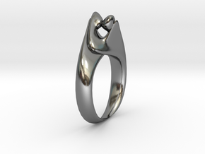 Kiss Ring Size 10 in Polished Silver