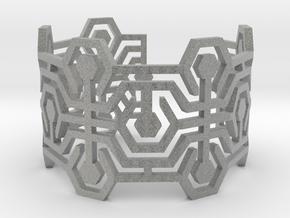 Bracelet Meandres Flexible in Metallic Plastic
