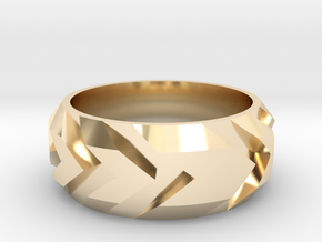 Arrow Ring in 14k Gold Plated Brass