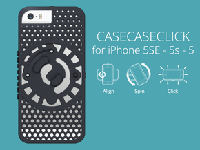 for iPhone 5SE - 5s - 5 : cel : CASECASE CLICK  in Black Natural Versatile Plastic