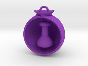 Christmas Ball Volumetric Flask in Purple Strong & Flexible Polished