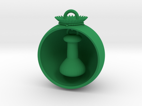 Christmas Ball Volumetric Flask in Green Strong & Flexible Polished