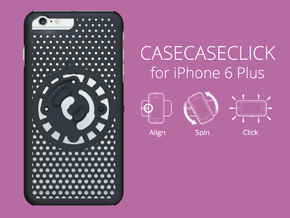 for iPhone 6 Plus : cel : CASECASE CLICK in Black Natural Versatile Plastic