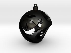 Team Valor Christmas Ornament Ball in Matte Black Steel