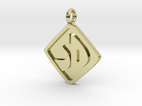 Scooby Doo Pendant Larger in 18k Gold Plated Brass