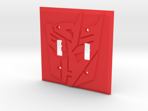 Transformers Faction Symbol Dual Switch Plate in Red Strong & Flexible Polished