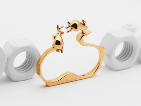 Ambition (Two Finger Ring) in Polished Bronze: 6.5 / 52.75