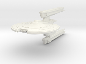 "Midfrie Class I  Destroyer   5.3"" in White Natural Versatile Plastic"