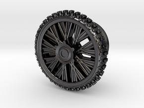 Dirbike wheel Earing Plug 10mm 00G (single) in Polished and Bronzed Black Steel