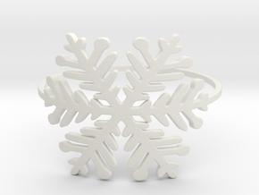 A Snowflake (Size 4-11.25) in White Natural Versatile Plastic: 4 / 46.5