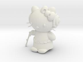 """3"""" Hello Princess Figure in White Natural Versatile Plastic"""