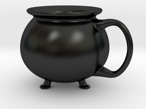 Cauldron Mug Large in Matte Black Porcelain