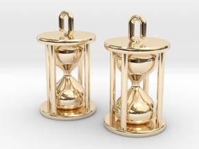 Hourglass Earrings in 14K Yellow Gold