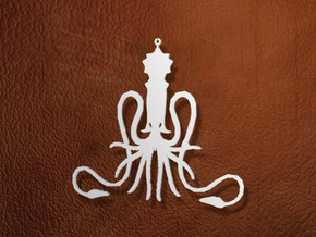 Greyjoy Ornament / Pendant in White Natural Versatile Plastic