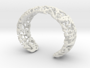 Bracelet K22h in White Natural Versatile Plastic