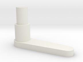 Whirlwind Main Door Handle in White Natural Versatile Plastic