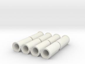 1/87 HO Betonrohr DN700 B-KF-GM 2500 8x in White Natural Versatile Plastic
