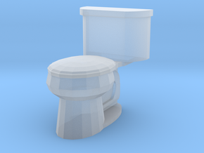 Toilet Closed in Smoothest Fine Detail Plastic: 1:64 - S