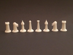 Spiral Chess Set in White Strong & Flexible