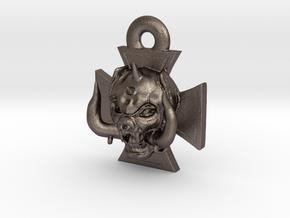 Motorhead Warpig Keychain in Polished Bronzed Silver Steel