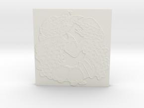 Abundance Horseshoe 1 Tile by Gabrielle in White Natural Versatile Plastic