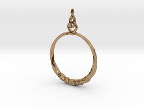 BlakOpal Twisting Hoop-small in Polished Brass (Interlocking Parts)
