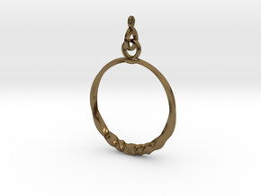 BlakOpal Twisting Hoop-small in Polished Bronze (Interlocking Parts)