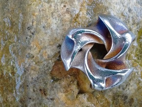 Ported Triwing pocket sculpture / pendant in Polished Gold Steel