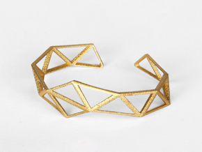 Faceted Bracelet in Polished and Bronzed Black Steel