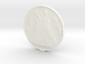 capitoltourism bear coin in White Processed Versatile Plastic
