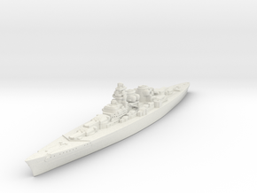 H-39 Class German Battleship (Global War Scale) Qt in White Natural Versatile Plastic