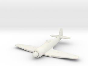 Hawker Sea Fury, 1:200 Scale in White Natural Versatile Plastic