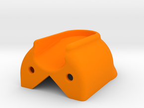 Cleat Shield protector for boats in Orange Processed Versatile Plastic
