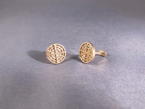 Radial Cufflinks in 14K Yellow Gold