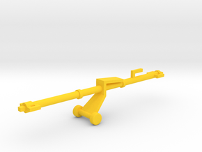 1/72 Scale Aircraft Tow Bar in Yellow Strong & Flexible Polished