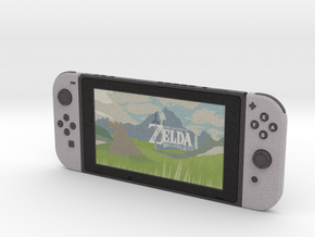 1:6 Nintendo Switch (Screen On) in Full Color Sandstone