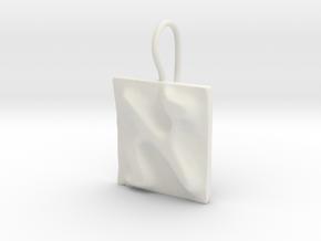 01 Alef Earring in White Natural Versatile Plastic