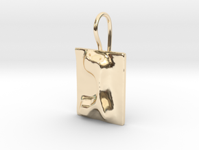 03 Gimel Earring in 14K Yellow Gold