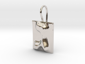 03 Gimel Earring in Rhodium Plated Brass