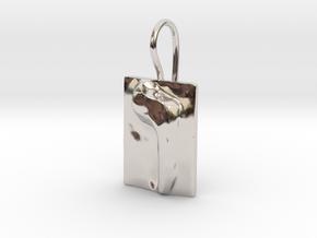 06 Vav Earring in Rhodium Plated Brass