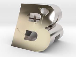 AB Pendant in Platinum