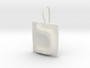 11 Kaf Earring in White Natural Versatile Plastic