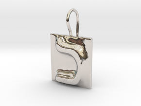 11 Kaf Earring in Rhodium Plated Brass
