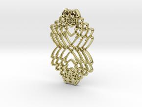 Interlocked Hearts in 18k Gold Plated Brass