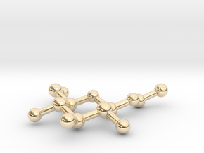 Ethyl Beta-D-glucopyranoside Pendant in 14k Gold Plated Brass