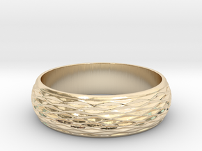 Curved Ring in 14K Yellow Gold